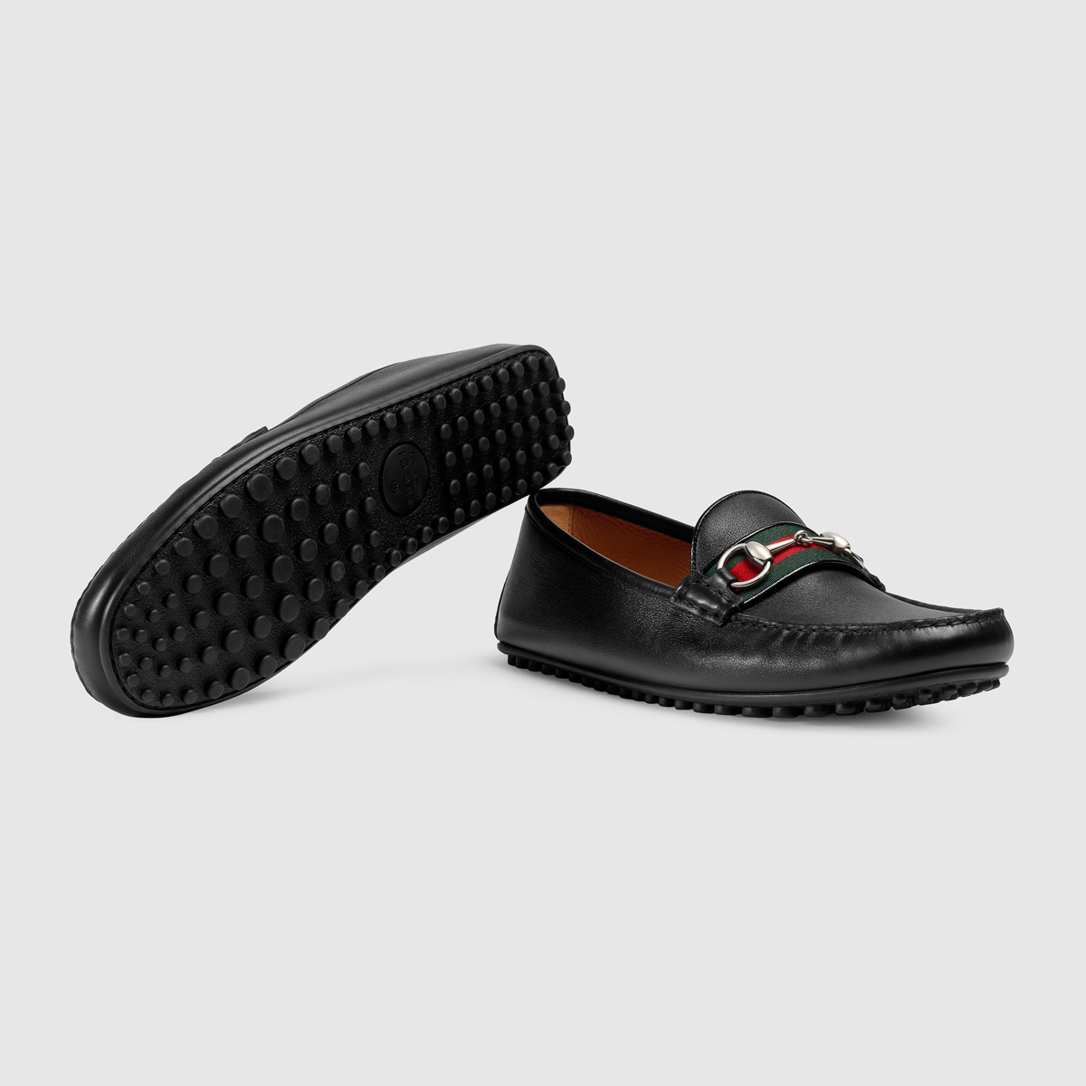 gucci-leather-driver-with-web-black